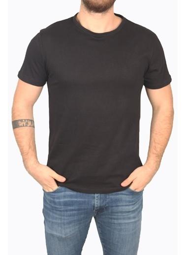 Derigo Siyah Erkek Bisiklet Yaka T-Shirt 68503 Siyah